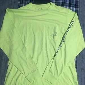 Bright Green Vineyard Vines Long Sleeve Shirt